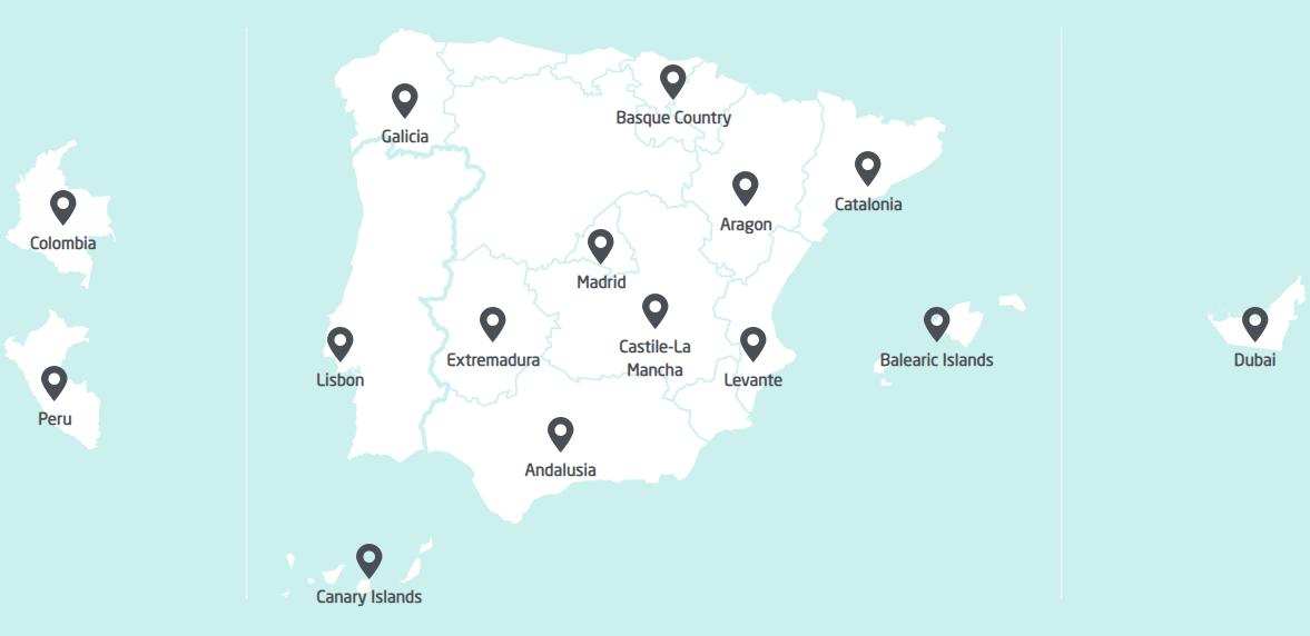 maps clinics quiron spain